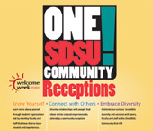 One SDSU Community Receptions
