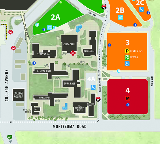 map of parking structure 3