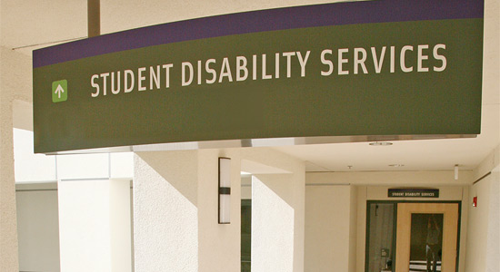 photo of Student Disability Services office