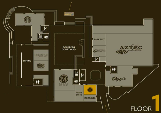 student union floor plan - 1st floor