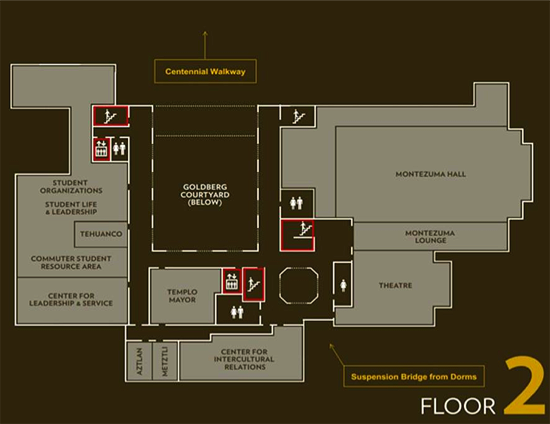 student unoin floor plan - 2nd floor