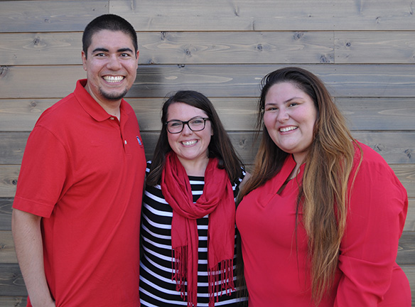 Fraternity & Sorority Life Staff: Matthew Garcia, Caryl Montero-Adams, and Vanessa Jara