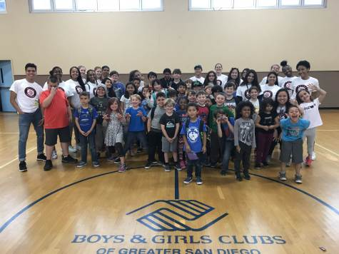 photo: AUP students w/kids at boys & girls club SD