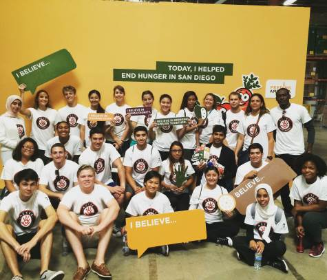 group photo: Feeding America San Diego food bank