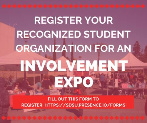 register for involvement expos see above link