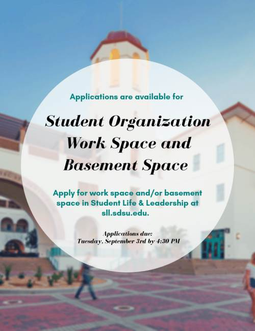 Apps for student org work space - see below details.