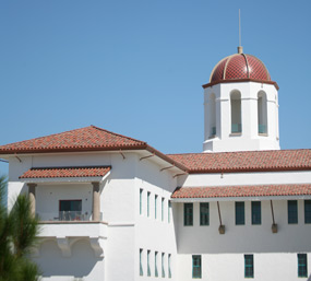 photo: dome of the Aztec Student Union
