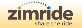 logo: zimride - share the ride
