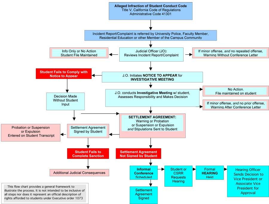 Flow chart of the judicial process