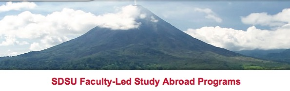 Image of mountain and words Faculty-led study abroad programs