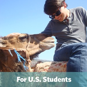 Image: Photo of student with words For U.S. students