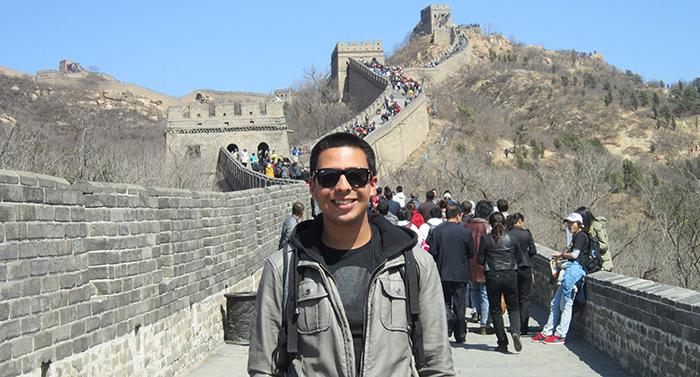 study abroad student jessey duran in china