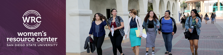 photo: female students walking in business attire