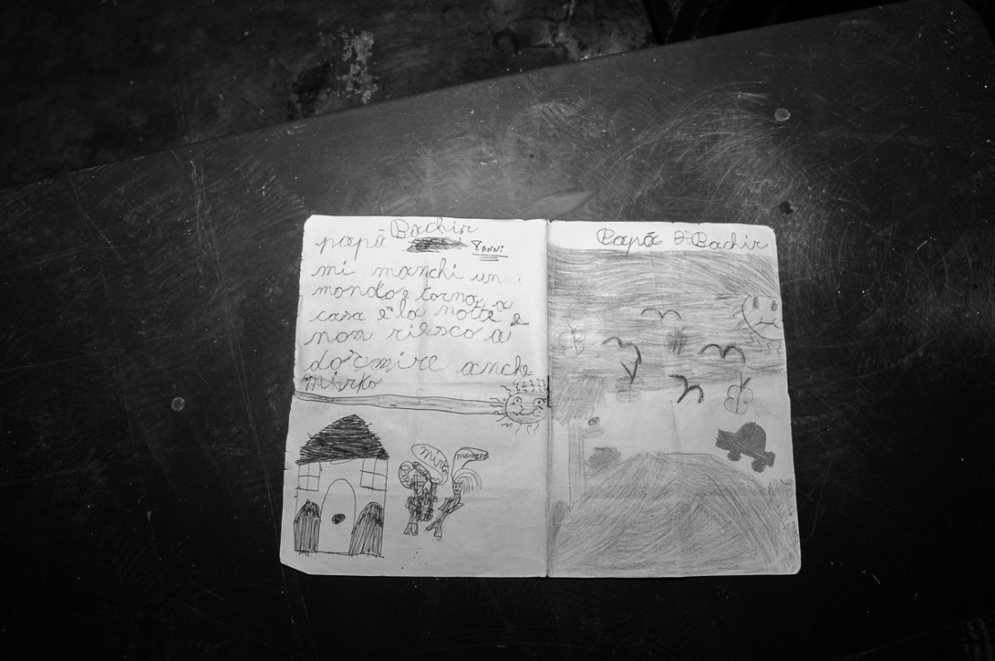 Notebook of child to parent in Detention Center