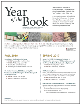 The Year of the Book Flyer
