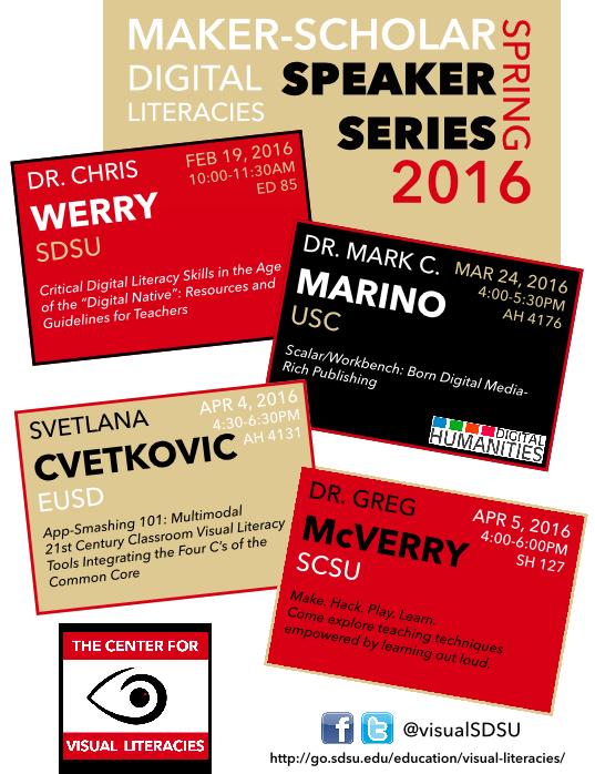 maker scholar speaker series poster