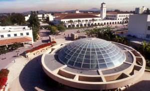 Arial photograph of the SDSU Library