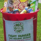 photo: can full of food donations