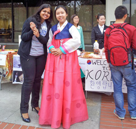 a student from Korea