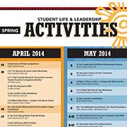 thumbnail view of activities calendar