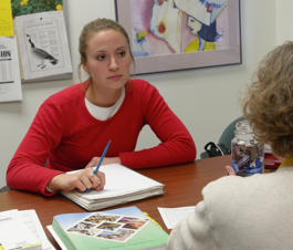 Photo: student in interview