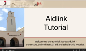 video screen shot of AidLink tutorial