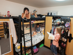 Photo: Students in university housing