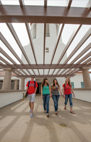 Photo: 4 students walking together