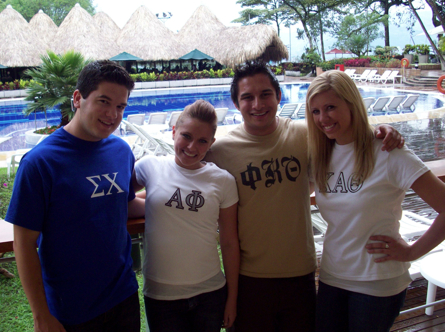 Photo: 2 fraternity members and two sorority members