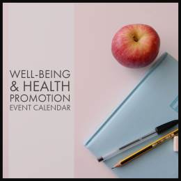 event calendar photo with apple, pad, paper pen