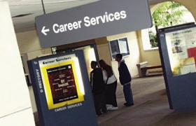 Photo: Career Services sign