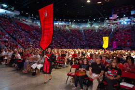 Photo: Convocation ceremony inside Viejas Arena