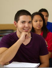 Photo: SDSU student in classroom