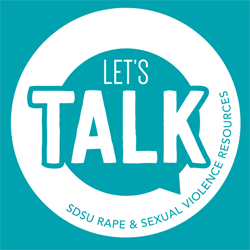 teal lets talk circle logo in teal box